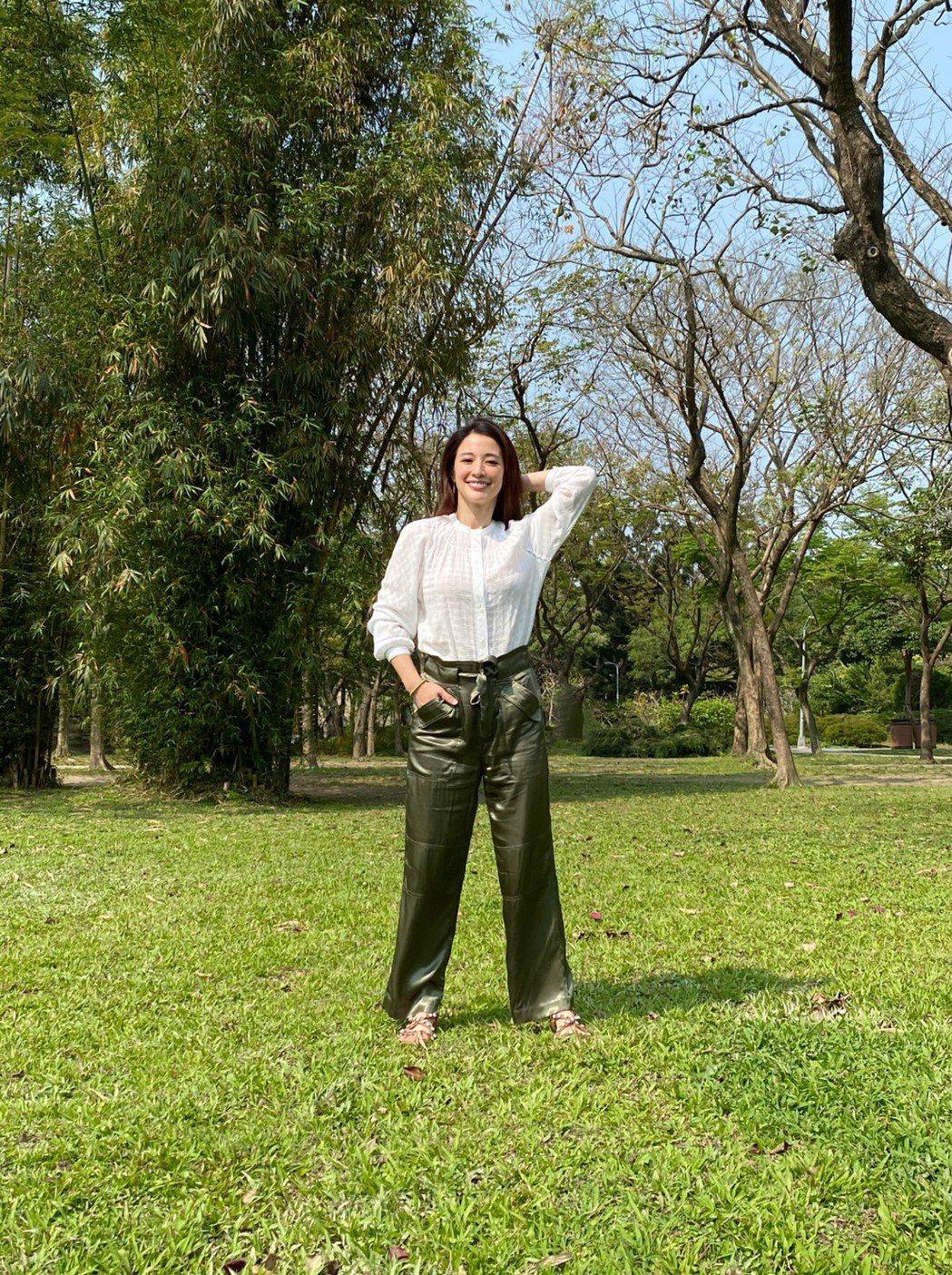 李蒨蓉懂得正向,面對陽光。圖/時報出版提供