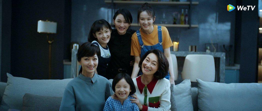 趙雅芝(左起)、周迅、惠英紅演出「不完美的她」,一部戲聚集不同時期3女神。圖/W...