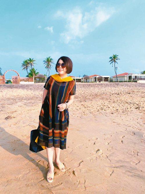 于美人喜歡體驗各國風情,圖為她到印度清奈旅遊。 圖/于美人提供