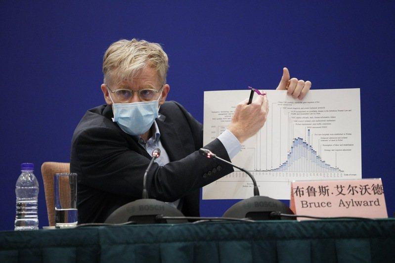 世界衛生組織(WHO)高級顧問艾沃德接受香港電台記者視訊訪問,被問到世衛是否重新考慮接納台灣時,他一度裝作沒聽見,接著疑似切斷視訊。圖/新華社資料照片