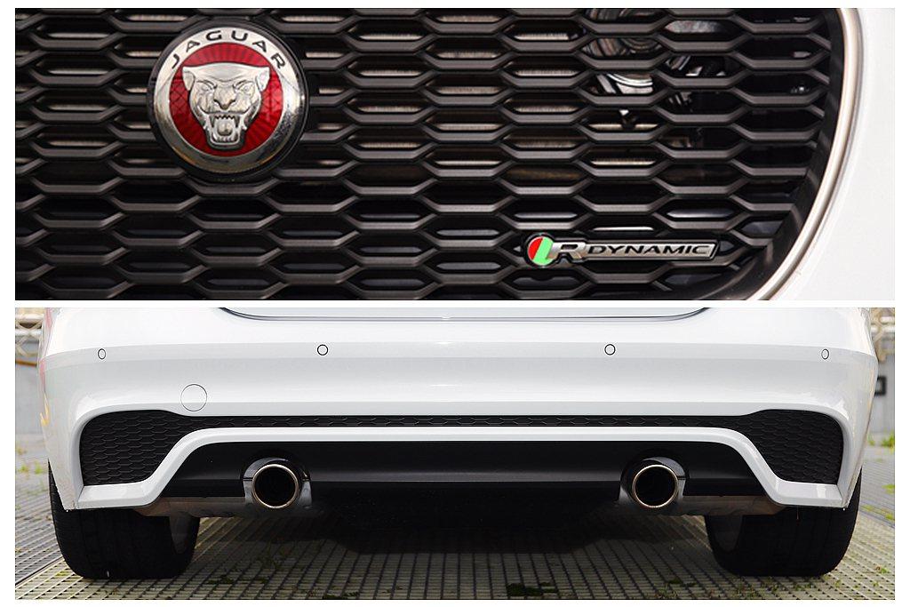 台灣銷售的小改款Jaguar XE雙車型全數配有R-Dynamic套件,包括專屬...