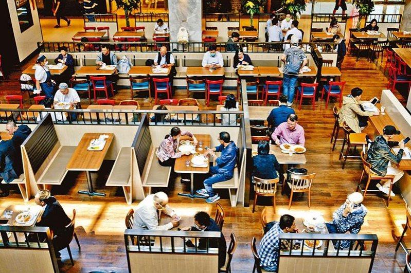 香港推出新一輪防疫措施,要求餐廳大減一半座位等多項強制措施,希望減少用餐市民聚集數量。圖/星島日報