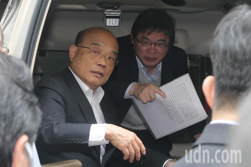 行政院長蘇貞昌參訪台灣菸酒公司台中酒廠時表示,將警政署長移送法辦一事,是前非未見...