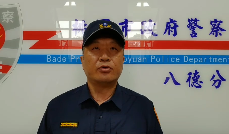 八德警分局副分局長蔡俊輝說明案情。記者張裕珍/翻攝