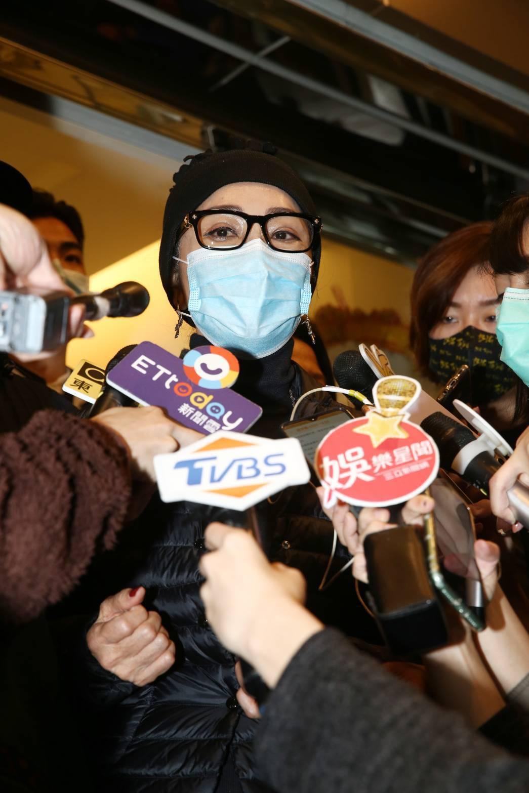 陳美鳳接受訪問。記者曾原信/攝影