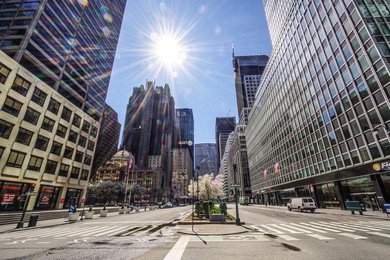 空無一人的曼哈頓第五大道。 圖/吳秉謙提供