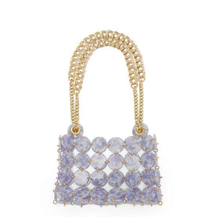 Pastille紫色圓點肩背包,售價11,360元。圖/sandro提供