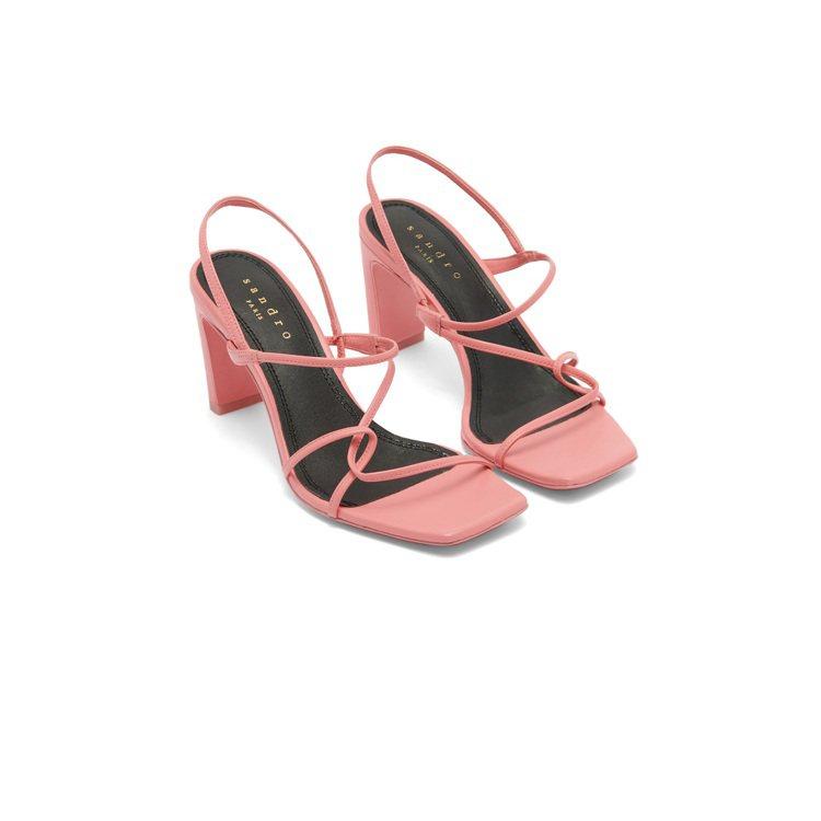 Faye粉色高跟鞋,售價9,050元。圖/sandro提供