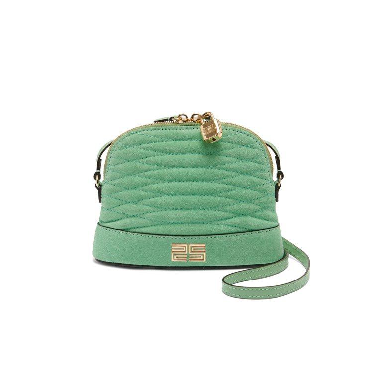 Thelma青綠色貝殼肩背包,售價9,050元。圖/sandro提供