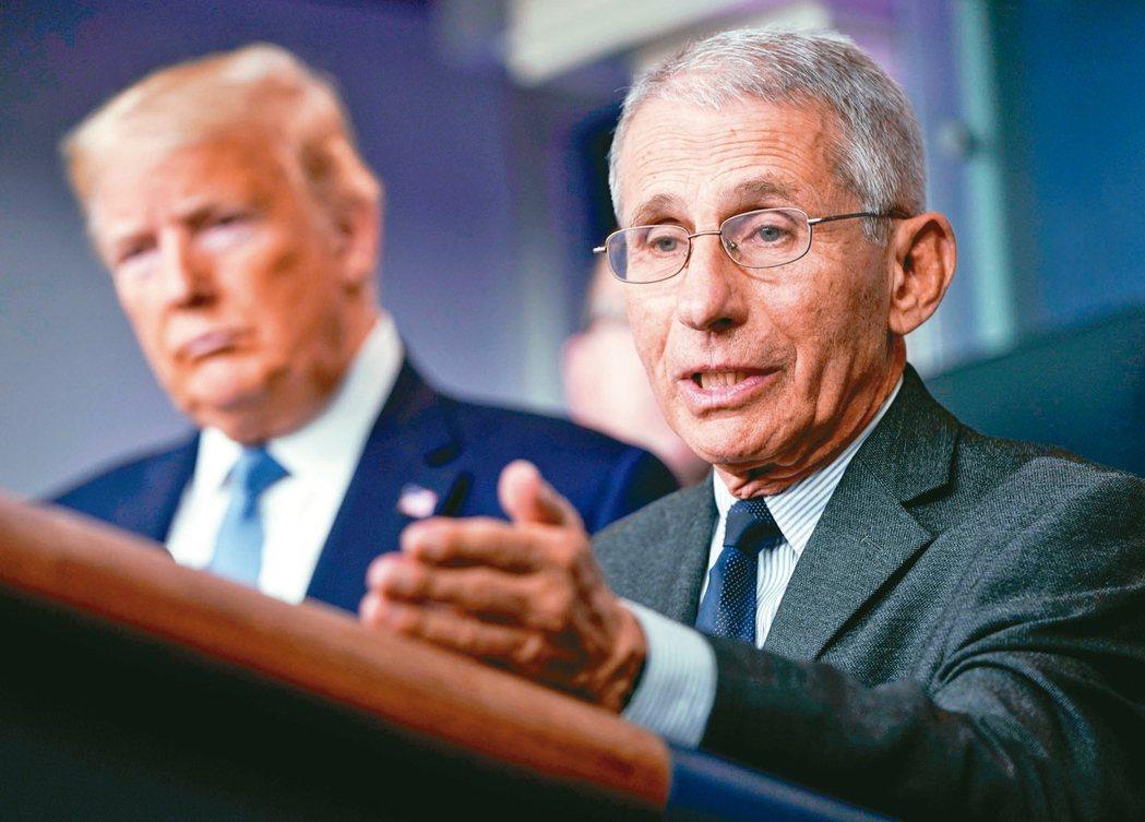 白宮的新冠肺炎疫情簡報會上,美國總統川普大談重啟經濟活動的優先必要性。記者冷不防...