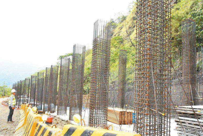 雲149甲線道路工程,目前進度超前。 圖/雲林縣府提供