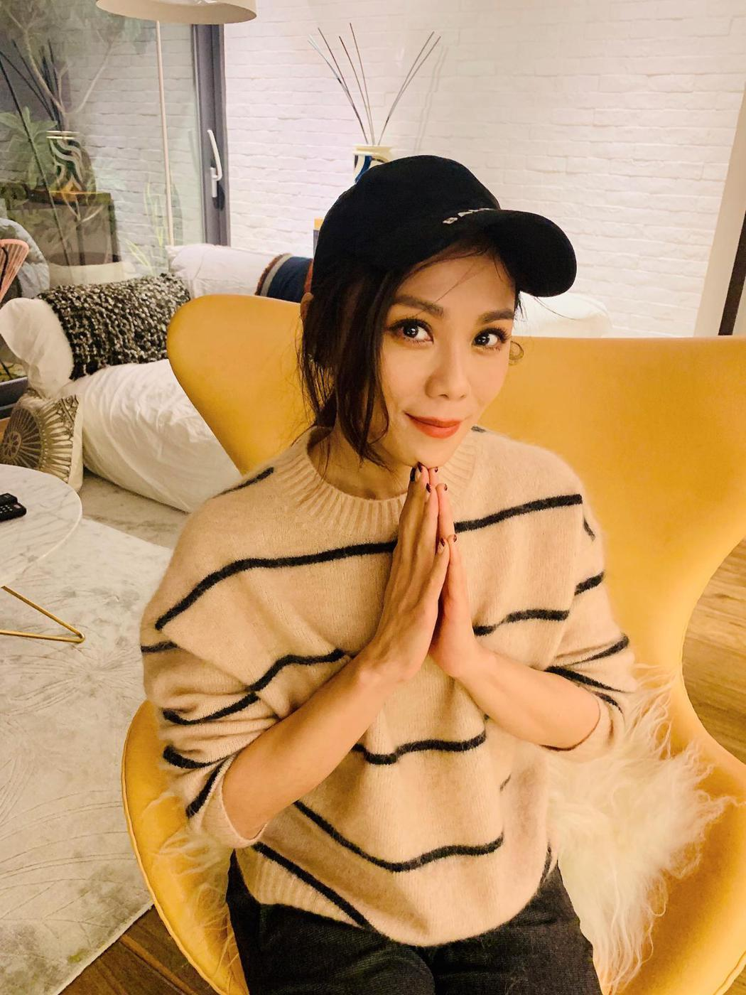 蔡健雅近期待在家中防疫。 圖/擷自蔡健雅臉書