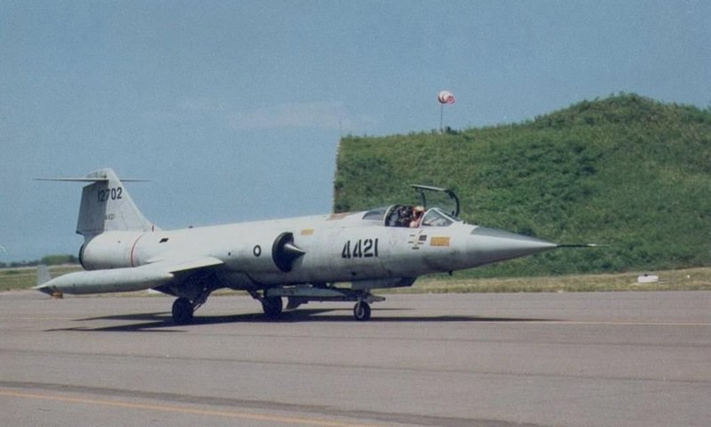 郭建志失事的4421號F-104G戰鬥機,攝於前民國78年的新竹基地開放。圖/傅鏡平提供