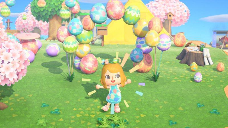 復活節活動日期為4月1日至4月12日,玩家收集復活節蛋並進行DIY,即可製作復活節季節限定的特別家具。圖/摘自任天堂官網