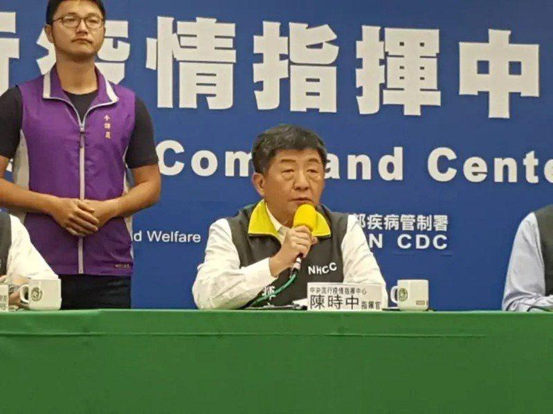 陳時中表示案269與277的關係有如叔姪,一起喝咖啡才遭傳染,「並非接待」。記者楊雅棠/攝影