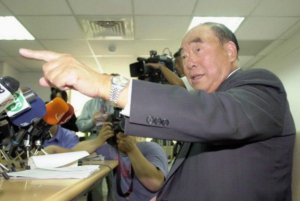 行政院前院長郝柏村。 聯合報系資料照片/記者潘俊宏攝影