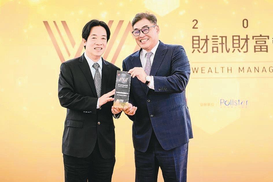 台新銀行個人金融事業總處副執行長林尚愷(右)代表領獎。 台新銀行/提供