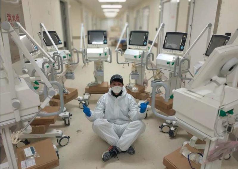 全球搶購中國製呼吸機,工廠訂單排到六月以後。 取材自財經網