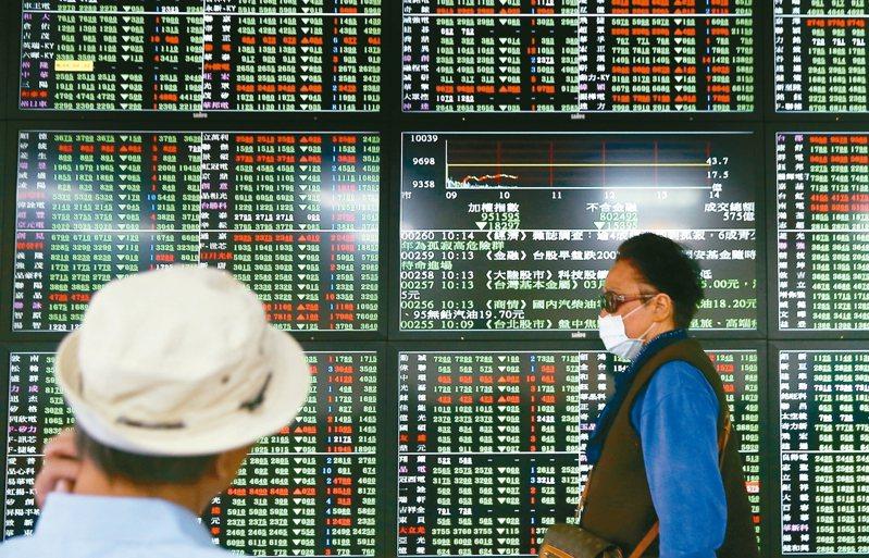 美股期貨盤領跌,亞股全面下殺,台股開盤一小時內跌近300點.  圖/聯合報系資料照(記者余承翰攝影)