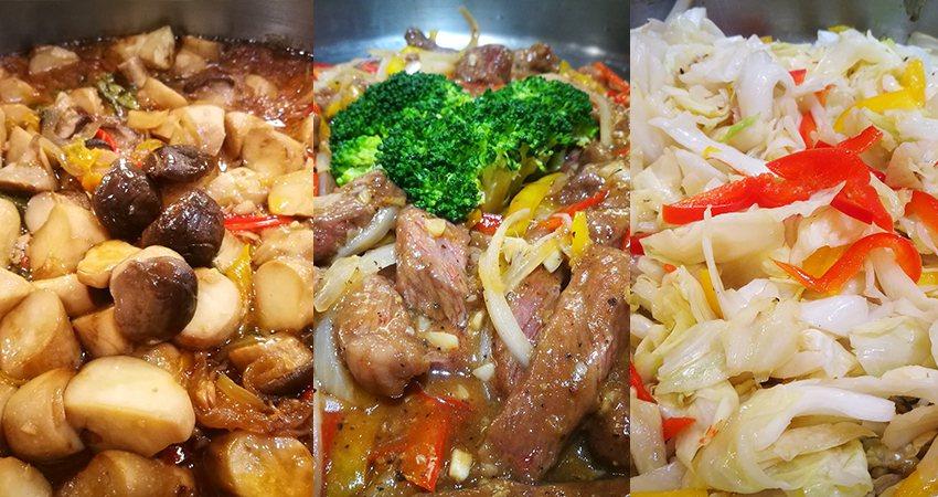 喜滋客廚房每日鮮炒自助吧。業者/提供