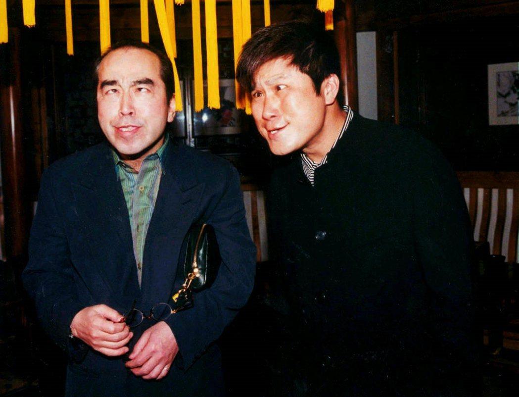 志村健的演出和風格,對台灣有極為深刻的影響。圖為1997年台灣主持人胡瓜與志村健...