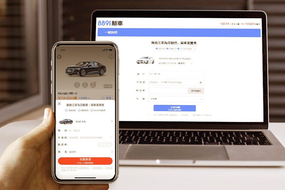 8891推出一鍵詢價,擁有智慧推薦,手機加密兩大創新。 圖/8891提供