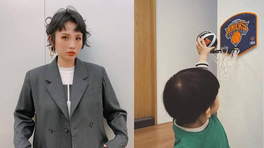 魏如萱與兒子「路易」。 圖/擷自魏如萱IG