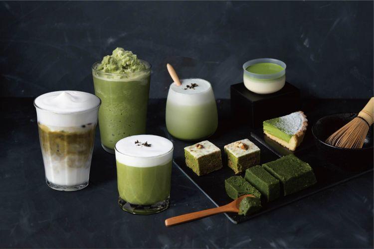 路易莎一共推出七個抹茶相關的甜點與飲品。 圖/路易莎官網