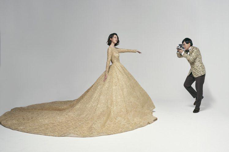 黃子佼與孟耿如婚紗照由攝影大師蘇益良掌鏡。圖/Nicole+Felicia提供
