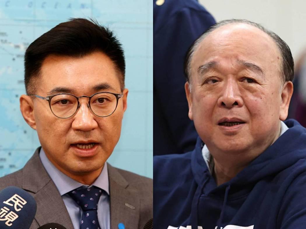 國民黨主席江啟臣與立委吳斯懷閉門會談半小時。圖/報系資料照合成