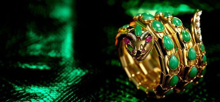「彩寶之王」寶格麗自50、60年年代起就在珠寶設計中大量運用東方人鍾愛的翡翠。圖...