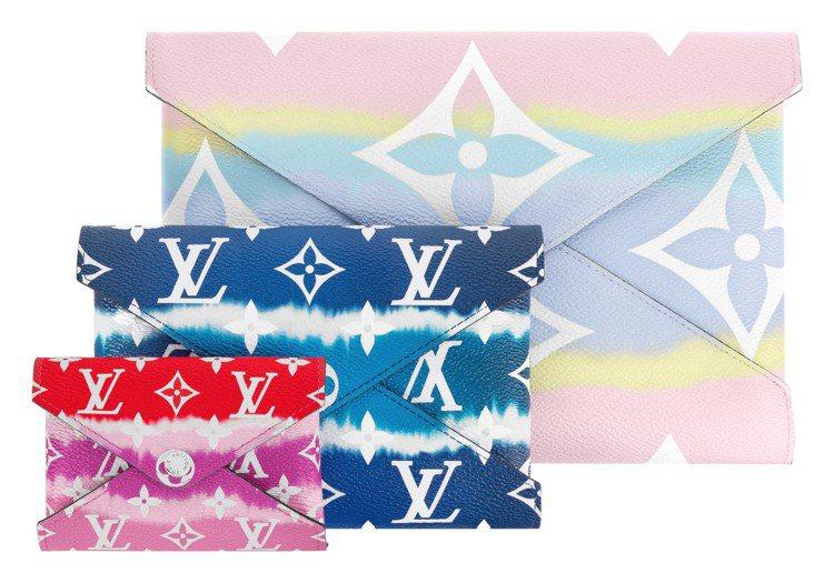LV Escale Kirigami套疊手拿包,售價34,600元。圖/LV提供