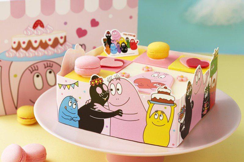 「泡泡先生歡樂家族」冰淇淋蛋糕,每個售價1,580元。圖/COLD STONE提供