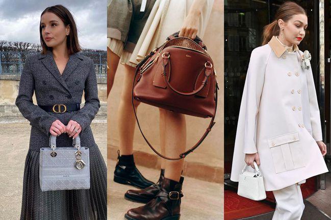左起:時尚博主Taylor Hage手提Dior Lady D-Lite;Chl...
