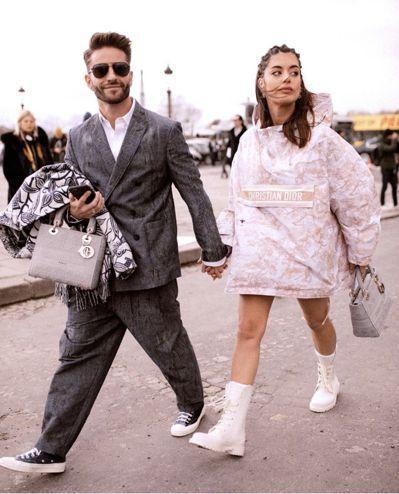 時尚部落客Pelayo Diaz與Aida Domènech。 圖/Tatler...
