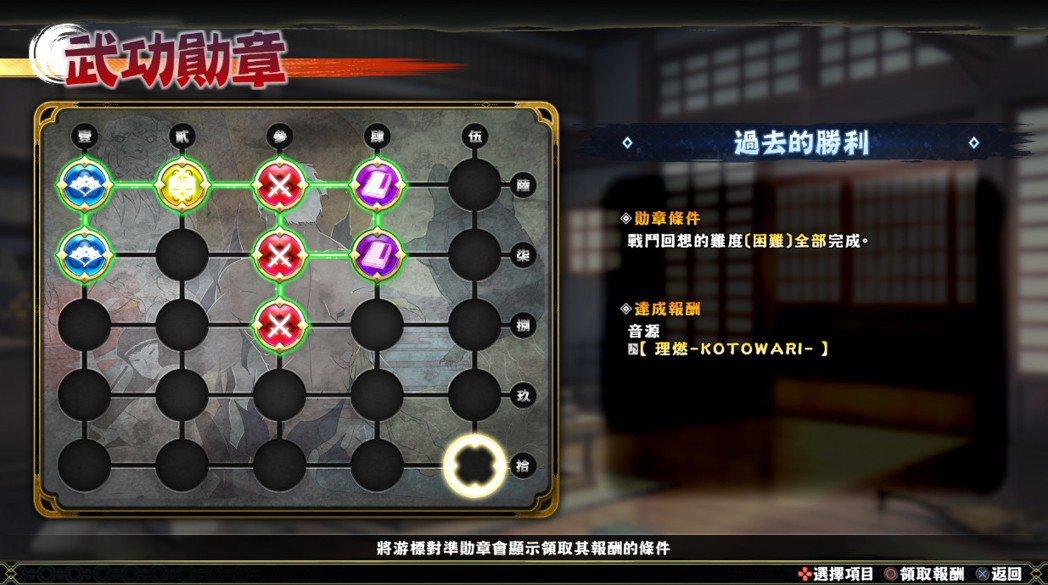 遊戲中的收集要素不少,許多報酬都是要完成各種目標才會得到,喜歡壓力摳米要素的玩家...