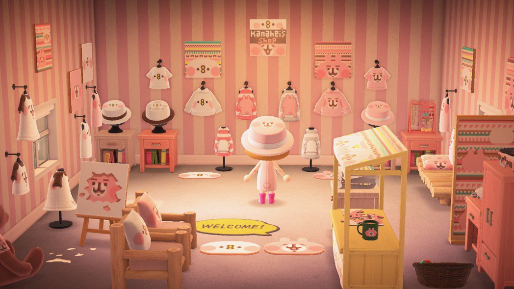滿滿的粉紅兔兔跟P助❤️️/圖片來源:Twitter@kanahei_