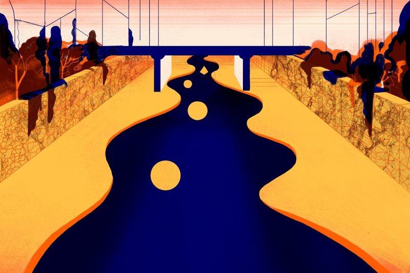 ICINORI對於物件時而以圖形創作,圖為清溪川。 圖/聯合報系資料照,LV提供