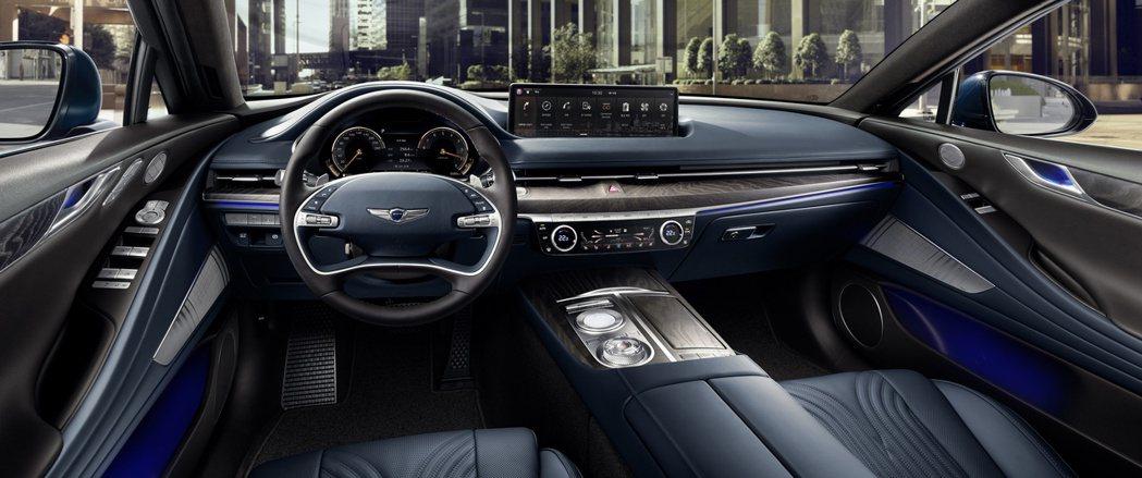 全新第三代Genesis G80車室。 摘自Hyundai