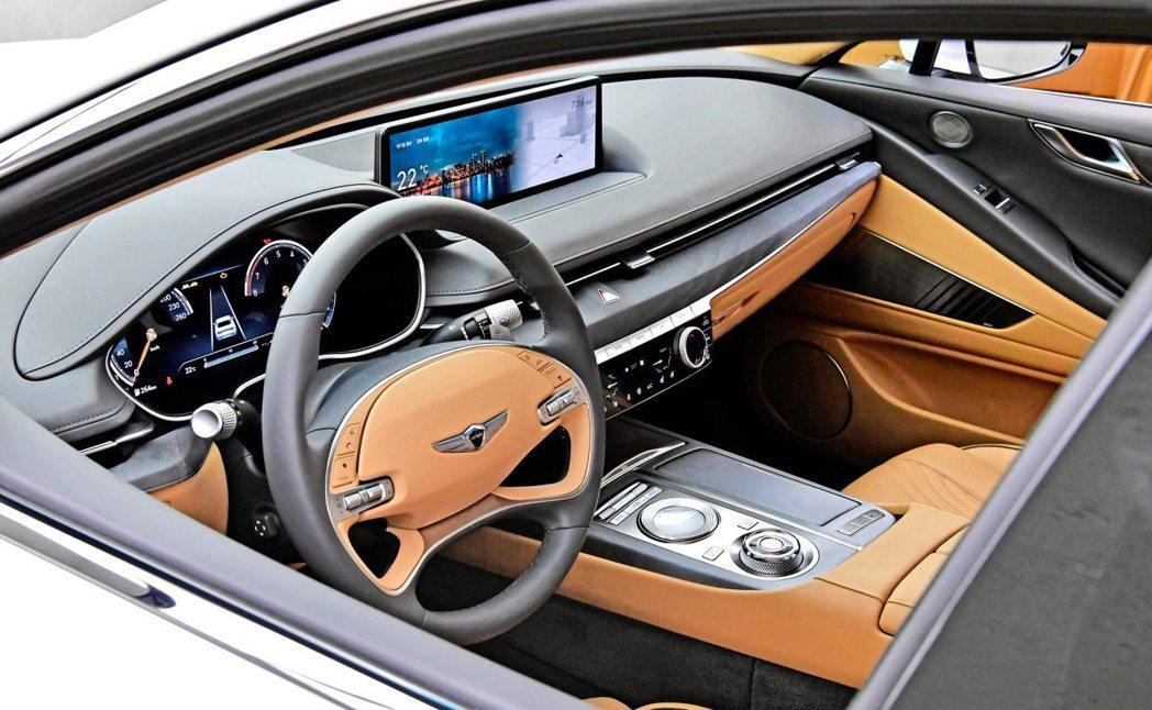 全新第三代Genesis G80內裝。 摘自Hyundai