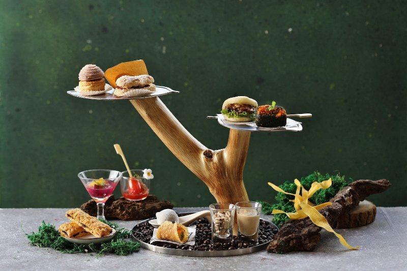 創意十足的下午茶,甜、鹹點均備。 業者/提供