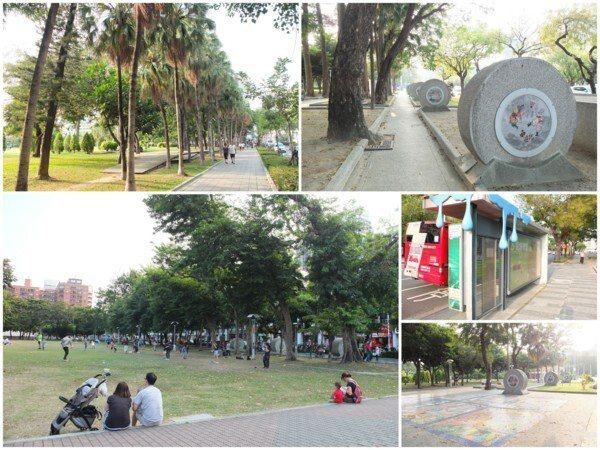 ▲文化中心周圍步道規劃成「高雄市民藝術大道」,讓公共藝術貼近生活。