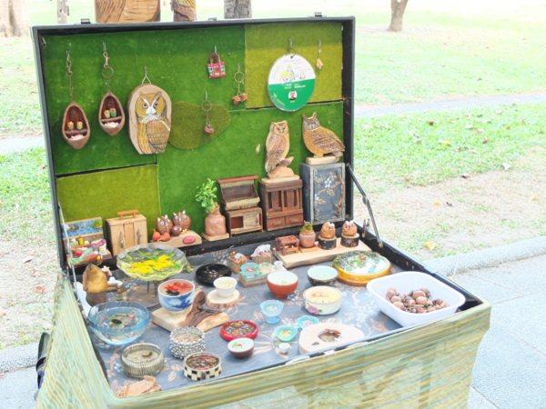 ▲假日會有藝術市集,展售各式各樣手工藝品,來自藝術創作職人的珍貴心血。