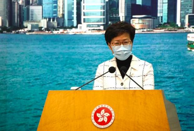 香港行政長官林鄭月娥稱,近日確診個案大多數是輸入病例,但現階段不會放寬相關入境限...