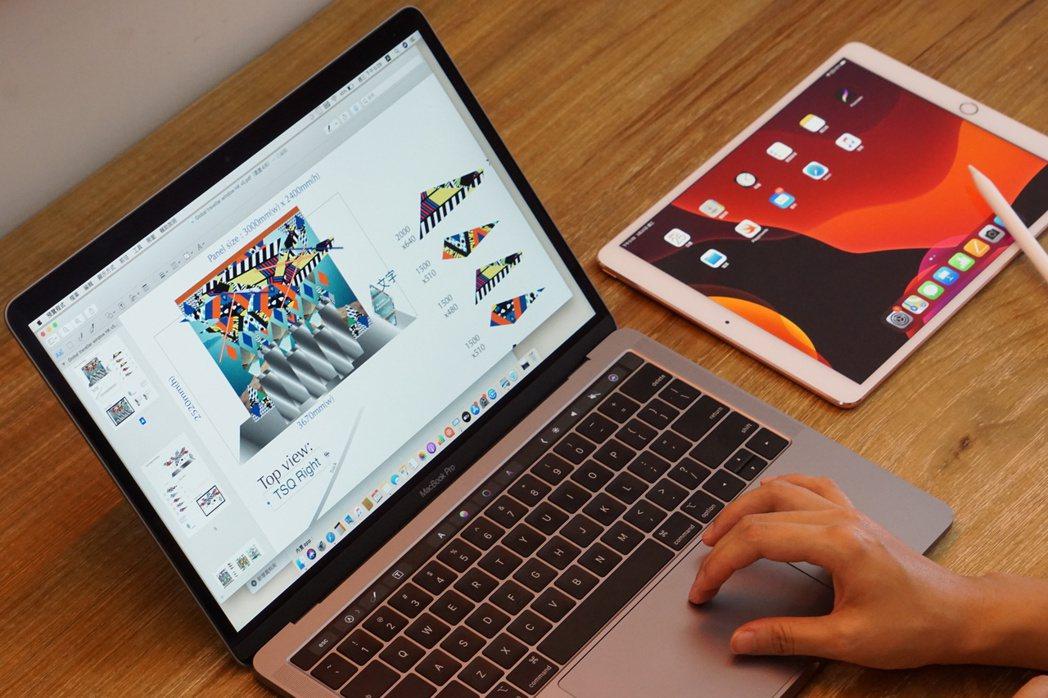 只要能靈活運用iPhone、iPad、Mac,在家工作也能保持高效率。圖/蘋果提...
