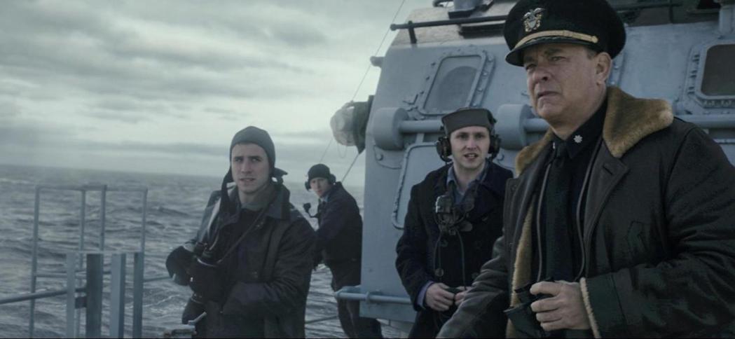 湯姆漢克斯(右)新片「怒海戰艦」,檔期又要延後。圖/摘自imdb