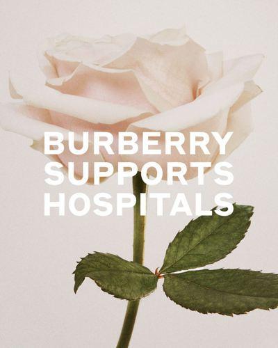 BURBERRY投入抗疫行列,包括製造外科口罩、非外科口罩以及手術衣,供醫療人員...