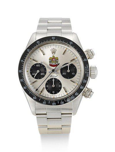 勞力士Daytona型號6263精鋼計時腕表,表盤刻有極具阿拉伯聯合大公國Qur...