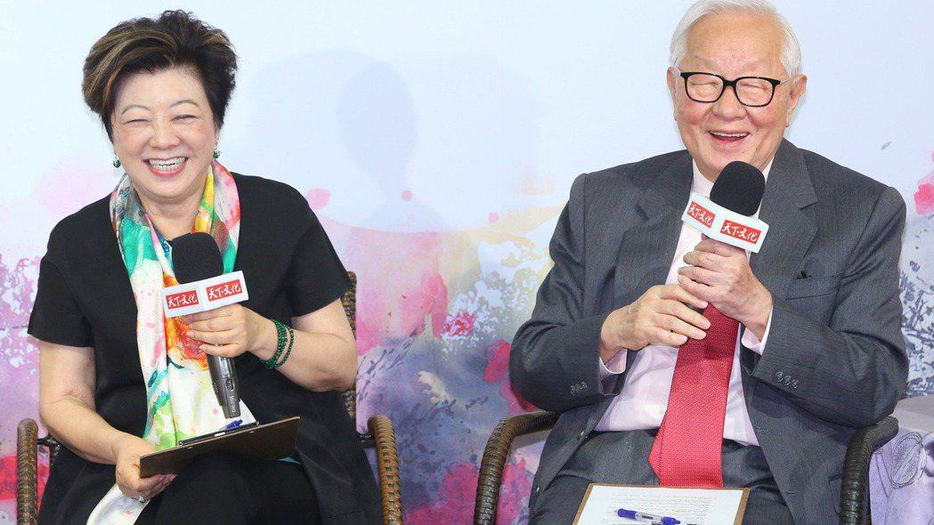 台積電創辦人張忠謀(右)、夫人張淑芬(左)。記者林澔一/攝影