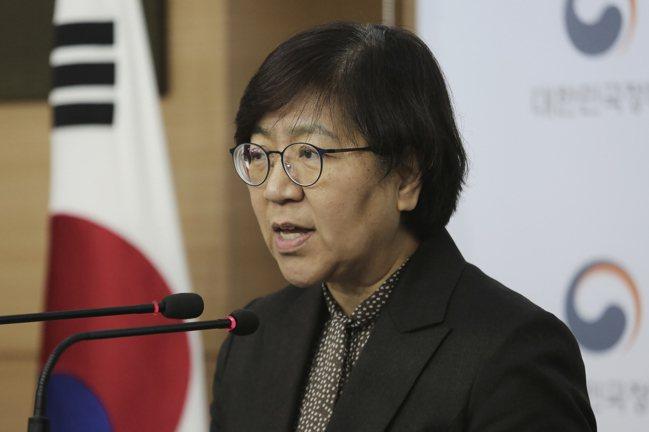 南韓中央防疫對策本部(CDC)本部長鄭銀敬。 美聯社